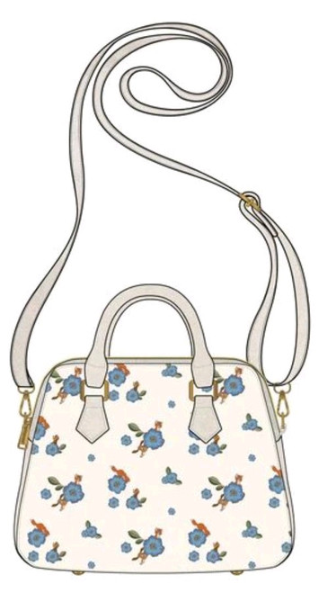 The Fox and the Hound - Floral Crossbody-LOUWDTB2177-LOUNGEFLY
