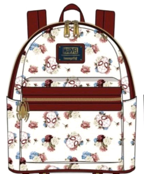 Spider-Man - Floral Mini Backpack-LOUMVBK0148-LOUNGEFLY