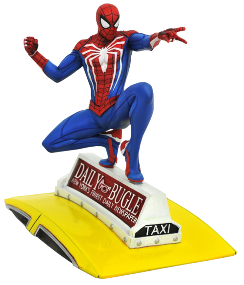 Spider-Man - Spider-Man on Taxi Gallery PVC Statue-DSTSEP201925-DIAMOND SELECT TOYS