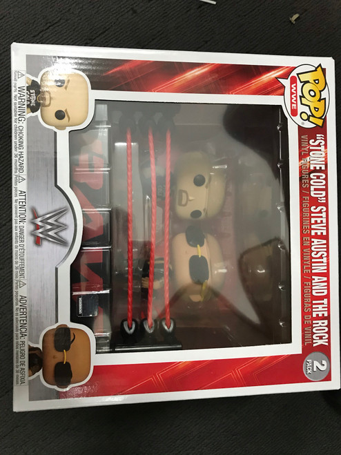 WWE - The Rock v Stone Cold Wrestling Ring Pop! Moment-FUN54661-FUNKO
