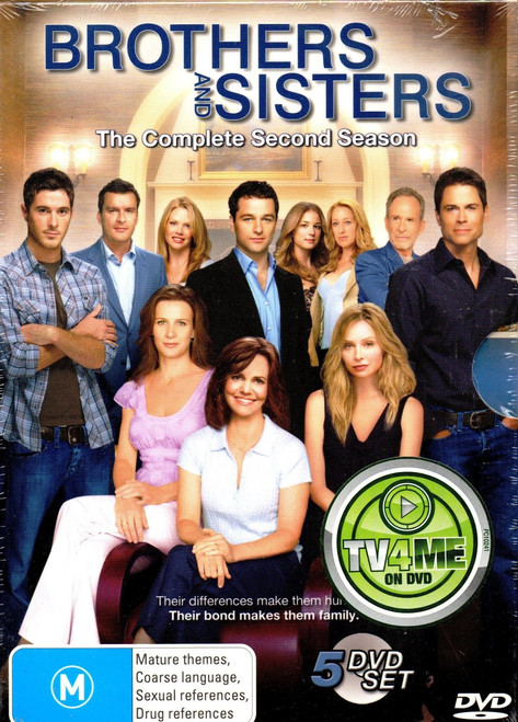 Brothers & Sisters-Season 2 (5 Disc Set) DVD-Region 4 -Brand New-Still Sealed