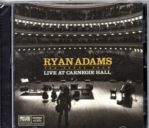 ADAMS, RYAN-Ten Songs Live From Carnegie Hall CD-Brand New-Still Sealed