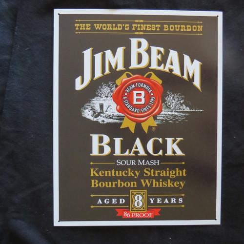 Jim Beam - Black label- 40 x 32 cm-Retro Rustic Metal Tin Sign Man cave