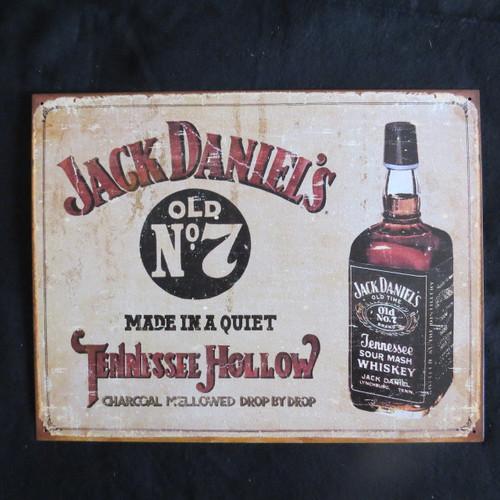 Jack Daniel's - Tennessee H- 40 x 32 cm-Retro Rustic Metal Tin Sign Man cave