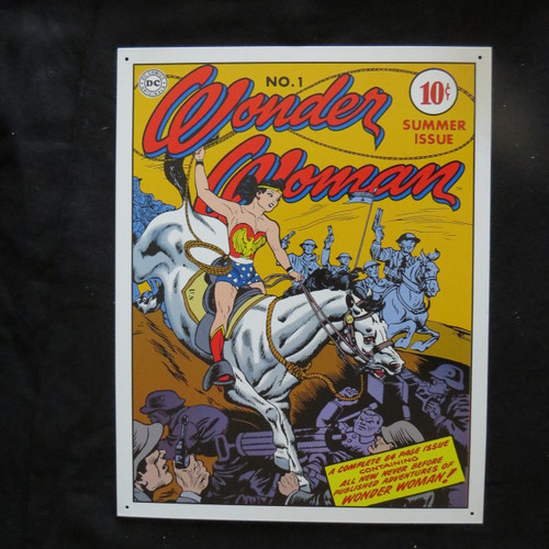 Wonder Woman - Cover No. 1- 40 x 32 cm-Retro Rustic Metal Tin Sign Man cave
