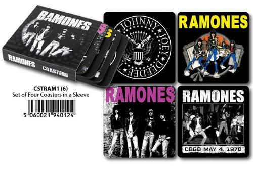Ramones - Coasters Set Of 4 In Sleeve-HMBCSTRAM1
