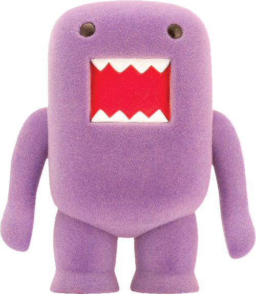 "Domo - 4"" Grape Soda Flocked Vinyl Figure-DHC21-969"
