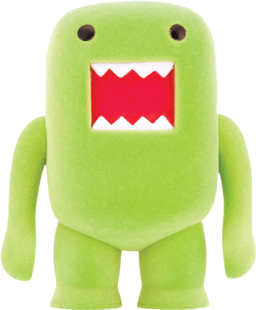 "Domo - 4"" Lime Soda Flocked Vinyl Figure-DHC21-970"