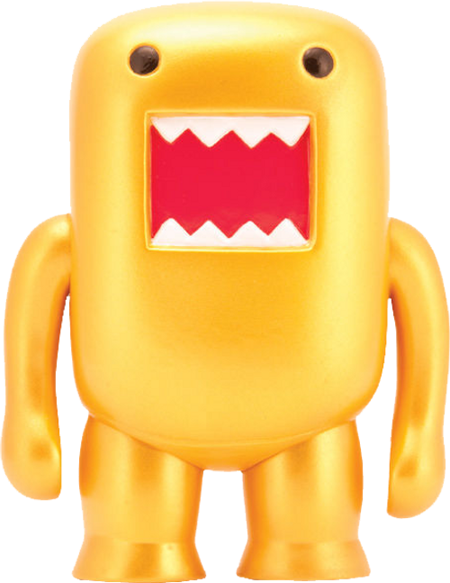 "Domo - 4"" Metallic Gold Vinyl Figure-DHC21-972"