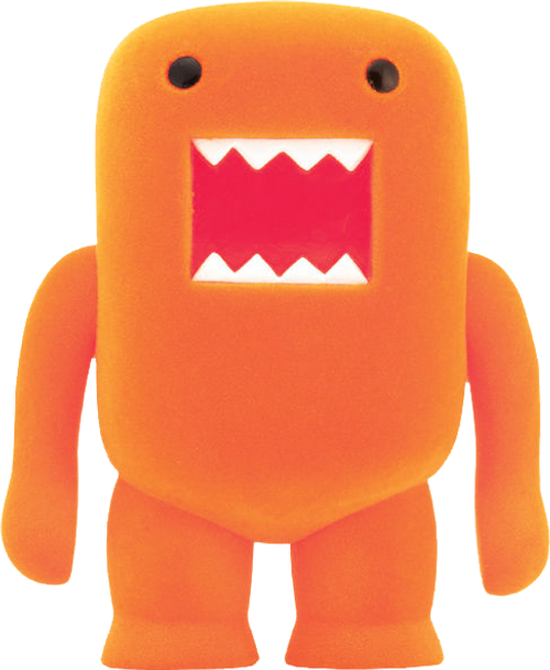 "Domo - 4"" Orange Soda Flocked Vinyl Figure-DHC21-971"