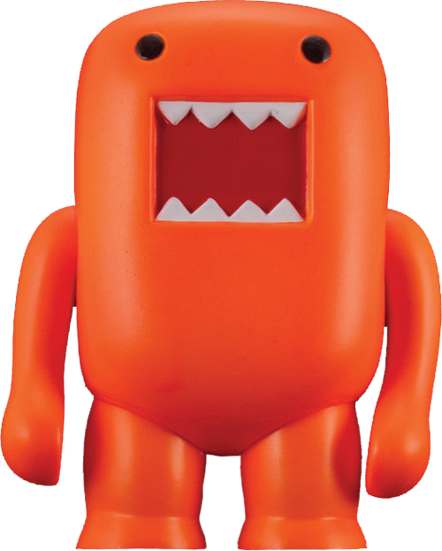 "Domo - 4"" Vinyl Figure Black-light Orange-DHC20-726"