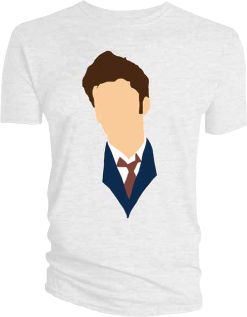 Doctor Who - David Tennant Vector Head T-Shirt L-TITDTV002L