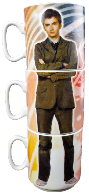 Doctor Who - Tenth & Eleventh Doctors Stacked Mug Set-IKO0529