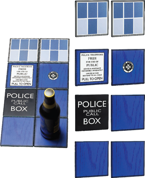 Doctor Who - TARDIS Ceramic Coasters Gift Set-WESDR249