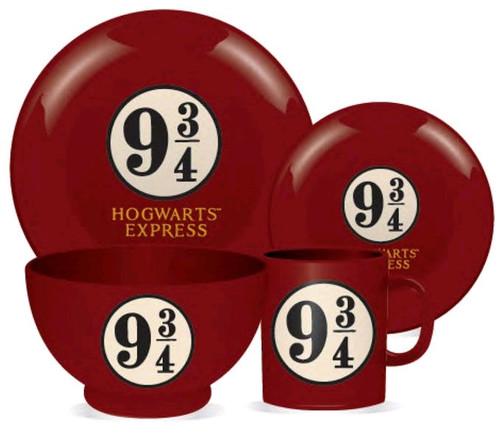 Harry Potter - Platform 9 3/4 4 Piece Ceramic Dinner Set-HMBDIN4HP04