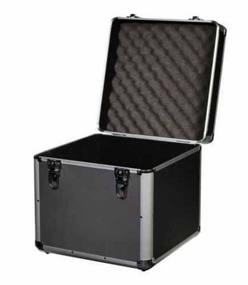 "Aluminium DJ Record Storage Flight Case-Holds 100 12"" Vinyl LP Box-Tough, Strong"