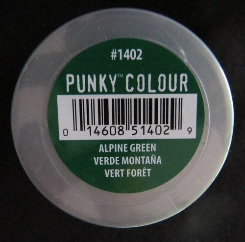 Punky Colour-ALPINE GREEN-100ml HAIR DYE Jerome Russell- New/Sealed-Punk