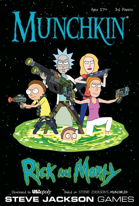 Munchkin - Rick and Morty Edition-RPG Board Game-USAMU085-434