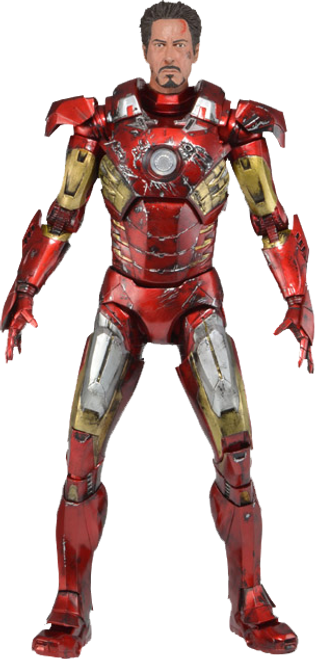 Avengers - Iron Man Battle Damaged 1:4 Scale Action Figure-NEC61238