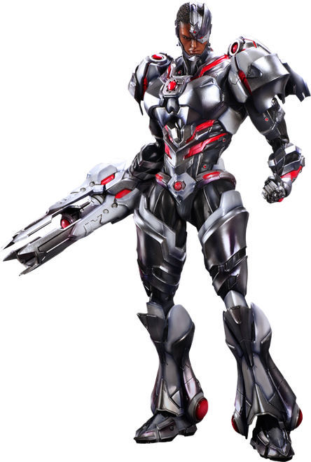 Justice League - Cyborg Play Arts Action Figure-SQU81457