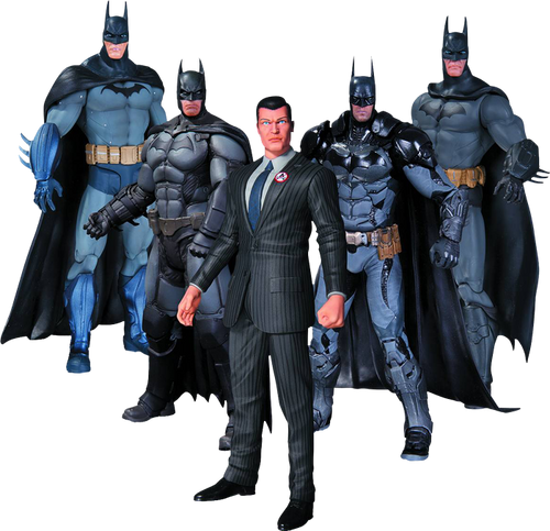 Batman - Arkham Series Batman Action Figures 5-Pack-DCCMAR150321