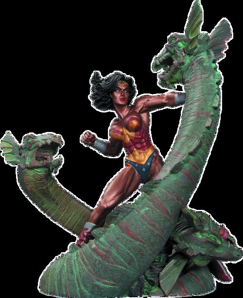 Wonder Woman - Wonder Woman vs Hydra Mini Patina Statue-DCCAPR140319