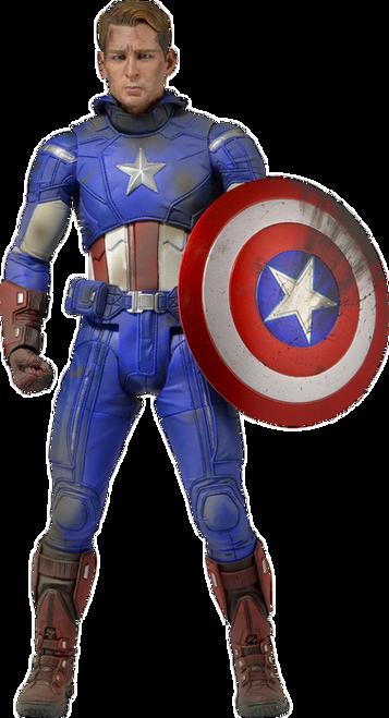 Avengers - Captain America Battle Damaged 1:4 Scale Action Figure-NEC61225