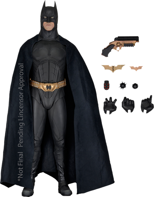 Batman Begins - Batman (Christian Bale) 1:4 Scale Action Figure-NEC61429