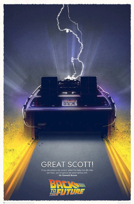 """Back to the Future - Great Scott Art Print 27"""" x 40""""-QMXBTF-0301"""