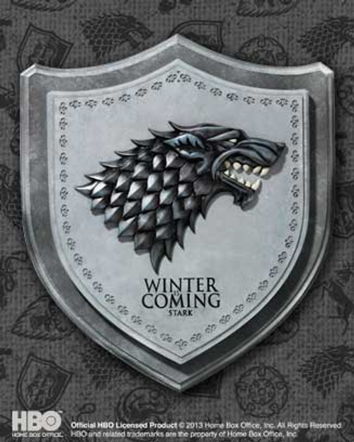 Game of Thrones - Stark House Crest Plaque-NOBNN0053