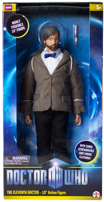 """Doctor Who - Eleventh Doctor 10"""" Figure (With Beard) Action Figure-CHA04106"""