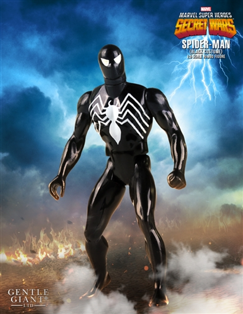 "Spider-Man - Spider-Man Black Costume 1:6 Scale 12"" Jumbo Kenner Action Figure-GGS80488"