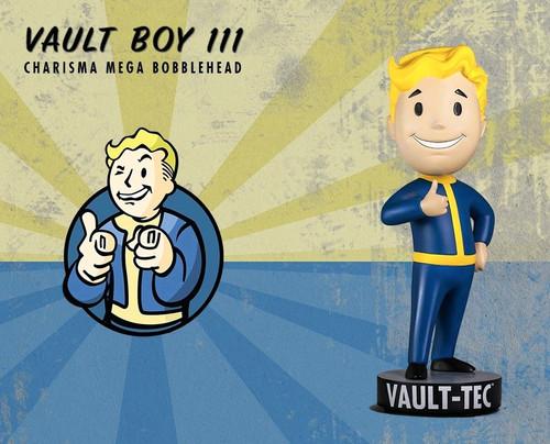 Fallout 4 - Vault Boy 111 Charisma Mega 15 inch Bobblehead-GAMVBCHMBH