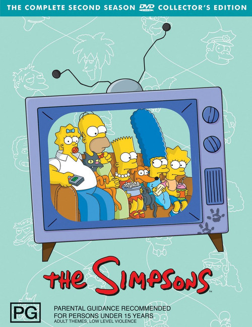 THE SIMPSONS: SEASON 2 BOX SET (4 DISC)-Collectors edition-Brand New-Still Sealed
