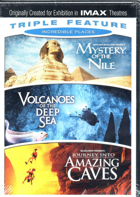 IMAX: Incredible Places Triple Feature-DVD (3 Disc Set)-Region 1-Brand New-Still Sealed
