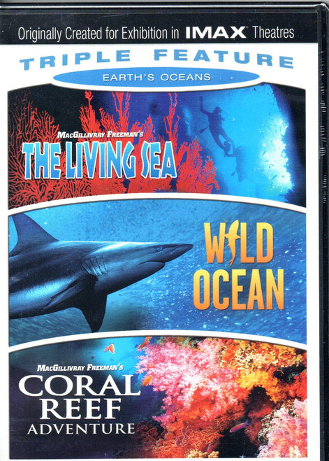 IMAX: Earths Oceans Triple Feature-DVD (3 Disc Set)-Region 1-Brand New-Still Sealed