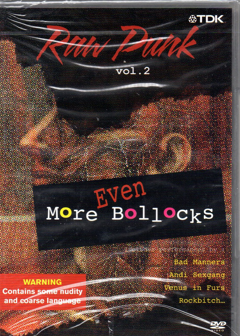 Raw Punk-Volume. 2-Even More Bollocks DVD-Region Free-Brand New-Still Sealed