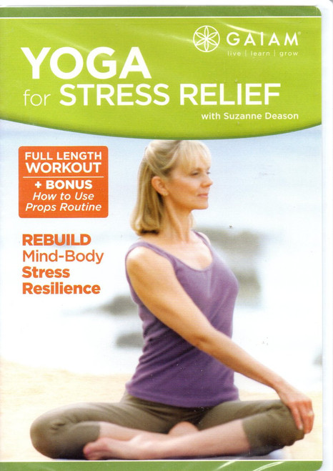 Yoga for Stress Relief-Region 1 DVD-Brand New-Still Sealed