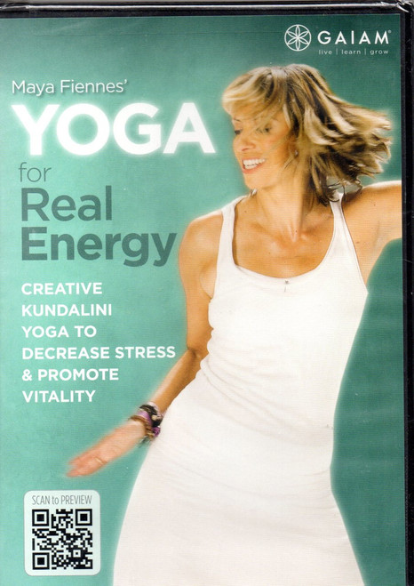 Yoga for Real Energy with Maya Fiennes-Region 1 DVD-Brand New-Still Sealed