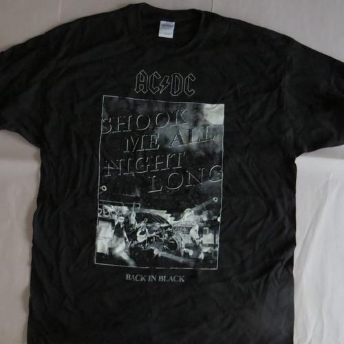 AC/DC Shook Me All Night Long- XL-Licensed T-Shirt-Brand New