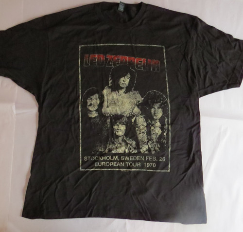Led Zeppelin Stockholm - XL-Licensed T-Shirt-Brand New