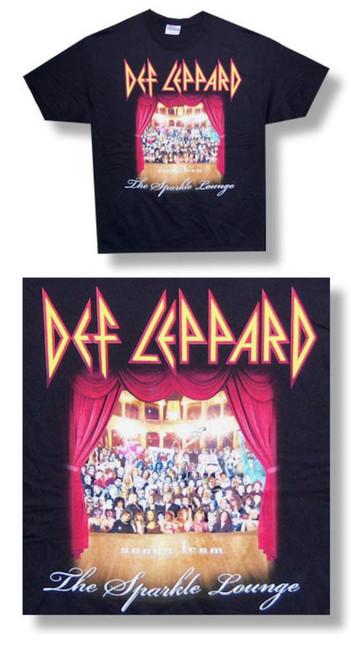 Def Leppard Sparkle Lounge Tee-Medium-T Shirt-Brand New