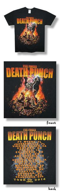 Five Finger Death Punch Purgatory 2014 Tour Tee