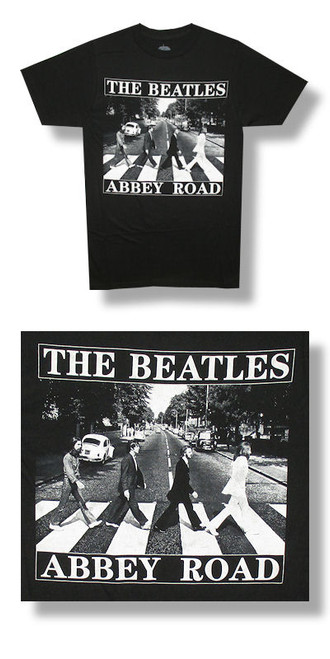 The Beatles Abbey Road B&W Title Tee-T Shirt-Brand New-L-XL-X Large