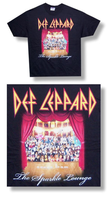 Def Leppard Sparkle Lounge Tee-Large-T Shirt-Brand New