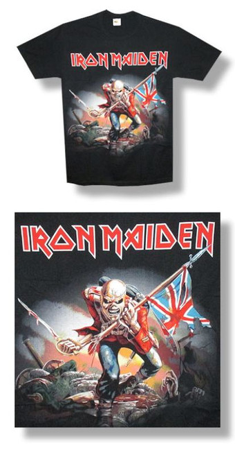Iron Maiden Trooper Jumbo Print -Medium-T Shirt-Brand New