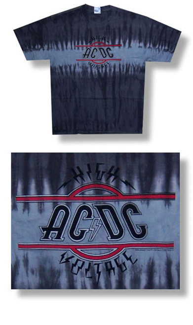 AC/DC High Voltage Tie Dye Tee-Large-T Shirt-Brand New
