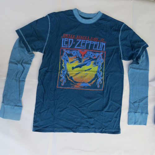 Led Zeppelin  Blimp Thermal Twofer - XL-Licensed T-Shirt-Brand New