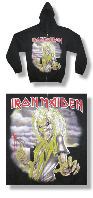 Iron Maiden First Album Zip Up Hooded Fleece-Hoodie-Medium-Brand New
