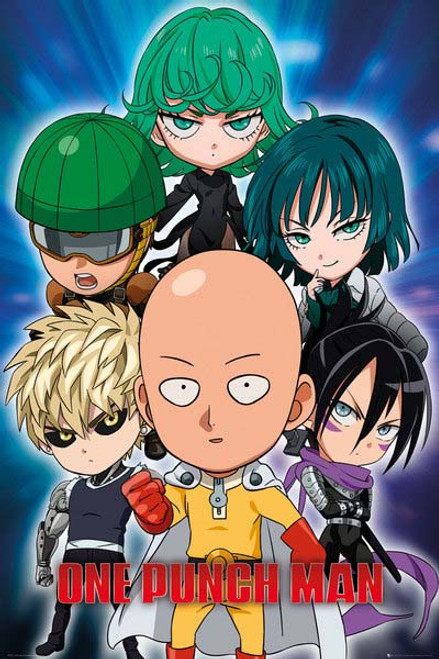 One Punch Man - Chibi-Poster-Laminated available-91cm x 61cm-Brand New-FP4303